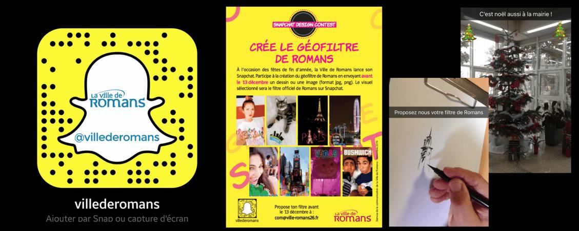 Jeu concours Snapchat par la mairie de Romans